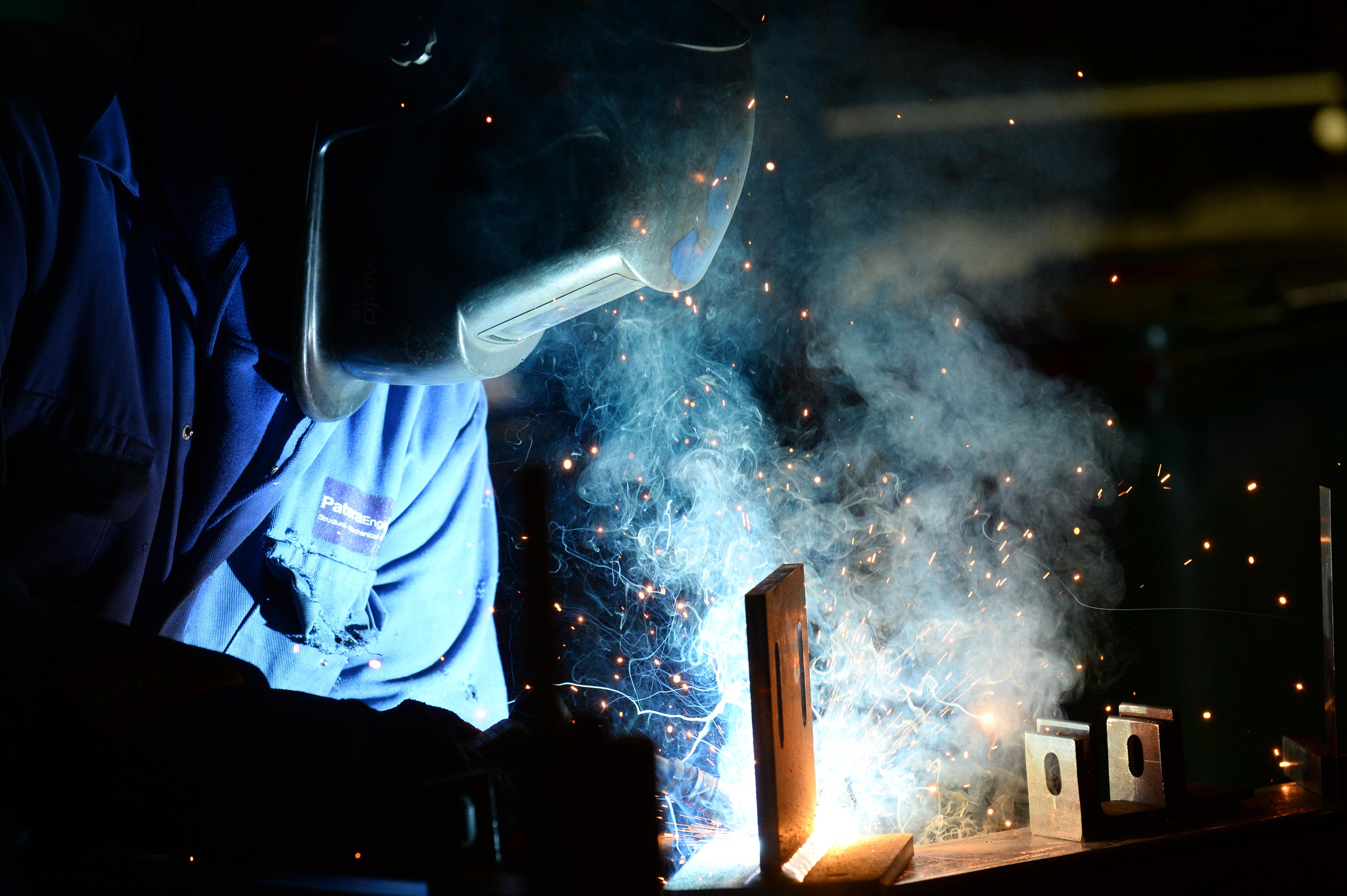 Simon Russell, fabricator welder at work